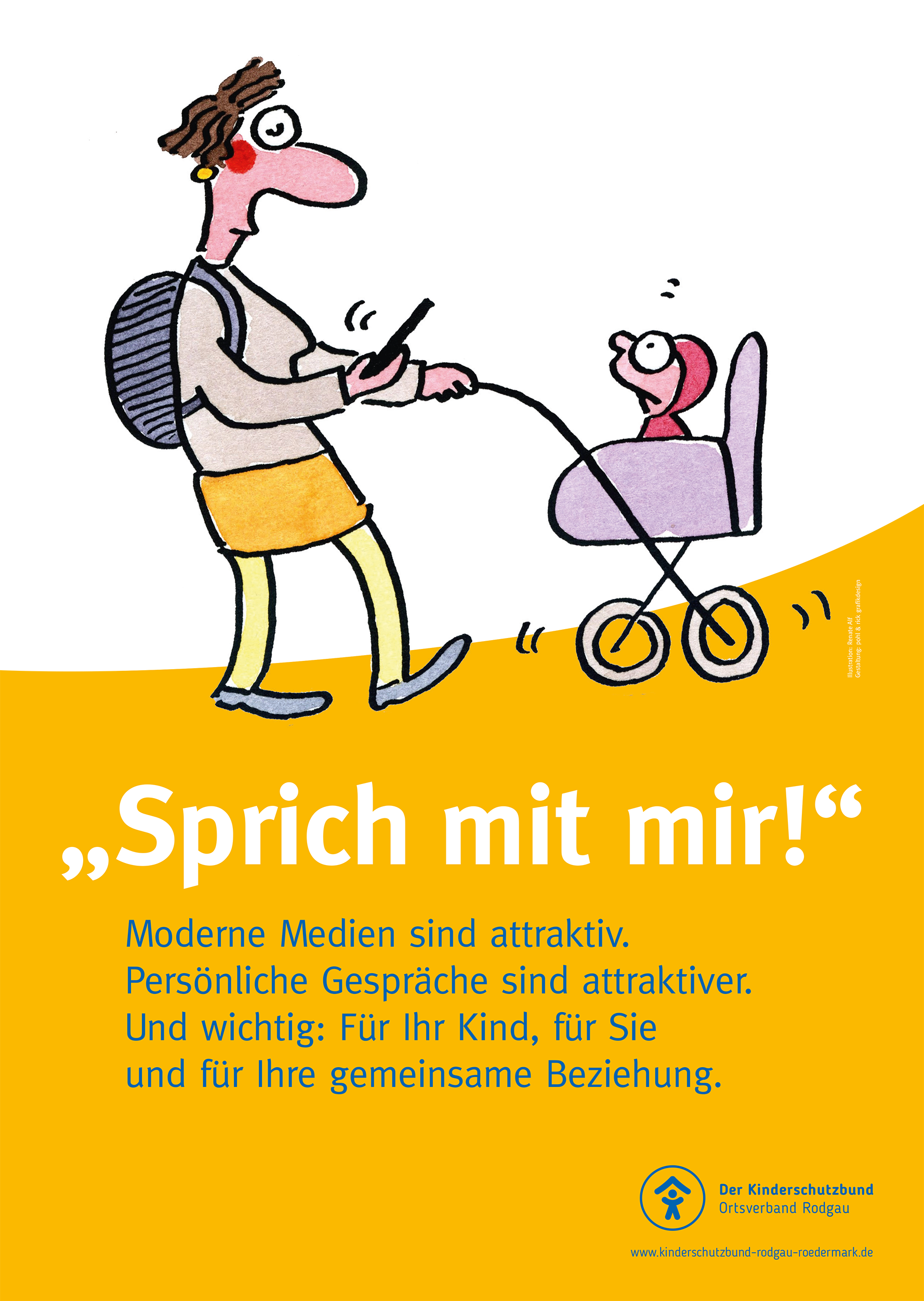 Plakat Kinderschutzbund Rodgau, Aktion Sprich mit mir