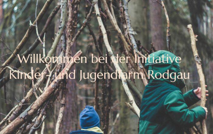 Kinder spielen mit Ästen im Wald, Kinder- und Jugendfarm Rodgau
